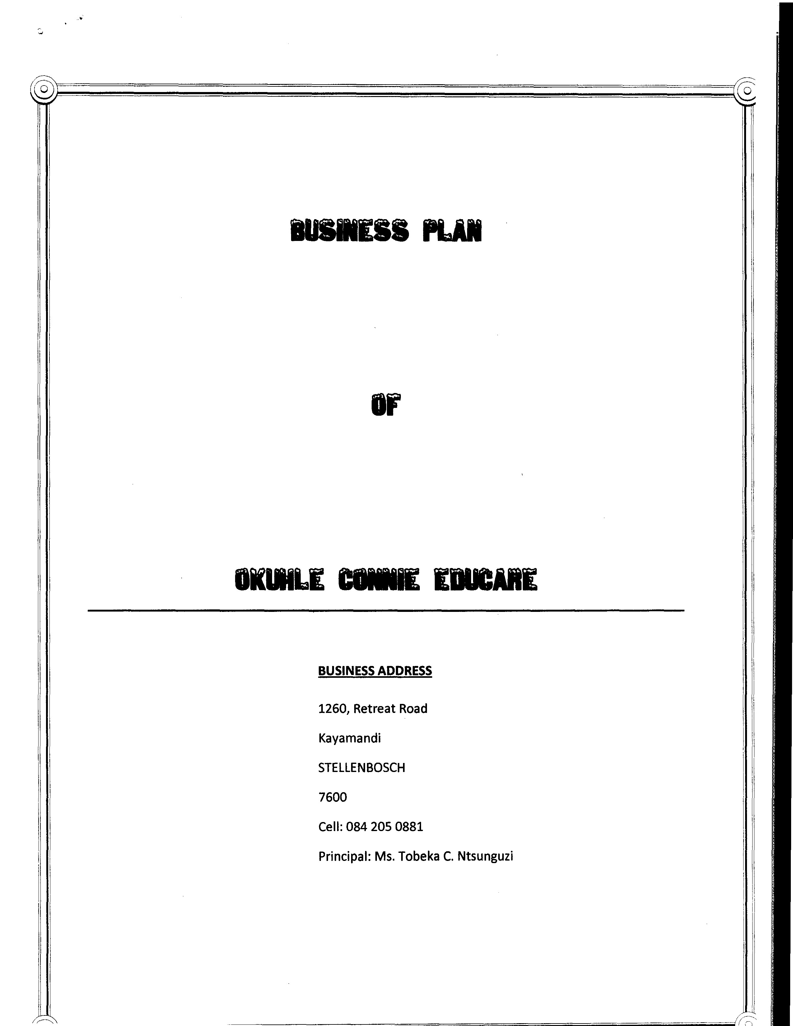 creche business plan pdf